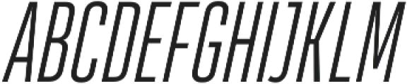 HeadingProUltracomp Light Italic otf (300) Font UPPERCASE