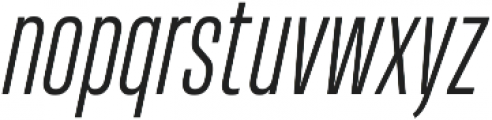 HeadingProUltracomp Light Italic otf (300) Font LOWERCASE