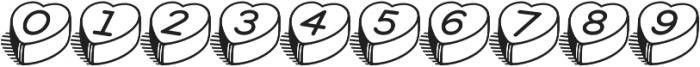 HeartBeats BH Regular otf (400) Font OTHER CHARS