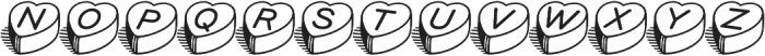 HeartBeats BH Regular otf (400) Font UPPERCASE