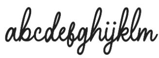 Hearthline otf (400) Font LOWERCASE