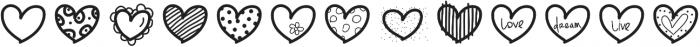Heartsdingbats ttf (400) Font LOWERCASE
