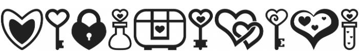 Heartsymo Symbols otf (400) Font OTHER CHARS