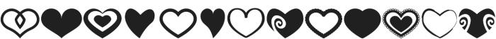 Heartsymo Symbols otf (400) Font UPPERCASE