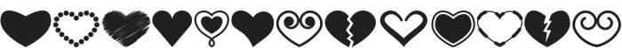 Heartsymo Symbols otf (400) Font LOWERCASE