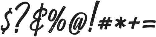 Heatslide Rough otf (400) Font OTHER CHARS