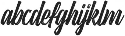 Heatslide Rough otf (400) Font LOWERCASE