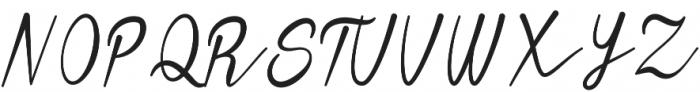 Heavy Boxing Script otf (800) Font UPPERCASE