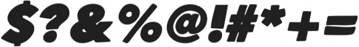 Heavy Hand Black Italic otf (800) Font OTHER CHARS