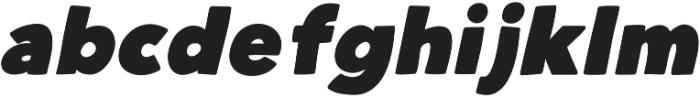Heavy Hand Black Italic otf (800) Font LOWERCASE
