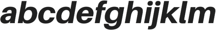 Heavy Italic otf (800) Font LOWERCASE