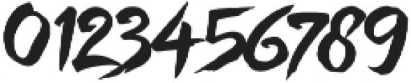 Hefalo Brush  Regular otf (400) Font OTHER CHARS