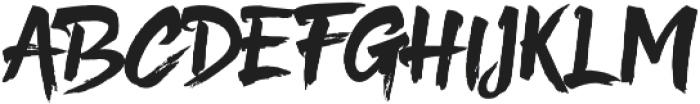 Hefalo Brush  Regular otf (400) Font UPPERCASE
