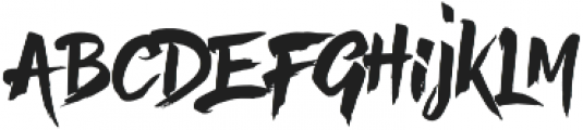 Hefalo Brush  Regular otf (400) Font LOWERCASE