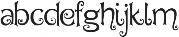 Hegran otf (400) Font LOWERCASE