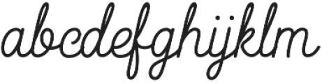 Heiders Handmade Script Handmade Script otf (400) Font LOWERCASE