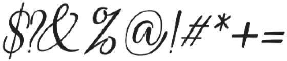 Heirley Script slant otf (400) Font OTHER CHARS