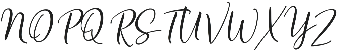 Heirley Script slant otf (400) Font UPPERCASE