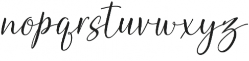 Heirley Script slant otf (400) Font LOWERCASE