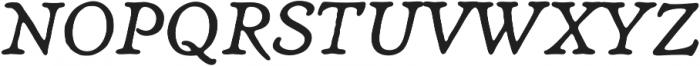Heirloom Artcraft Book Italic otf (400) Font UPPERCASE