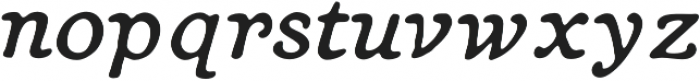 Heirloom Artcraft Book Italic otf (400) Font LOWERCASE