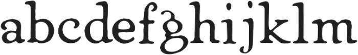 Heirloom Artcraft Book otf (400) Font LOWERCASE