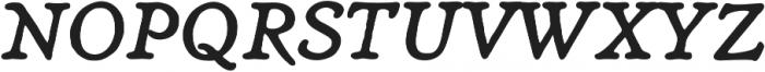 Heirloom Artcraft DemiBold Italic otf (600) Font UPPERCASE