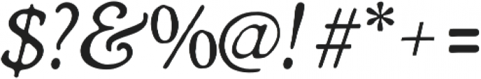 Heirloom Artcraft Thin Italic otf (100) Font OTHER CHARS
