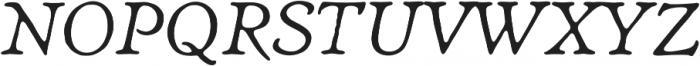 Heirloom Artcraft Thin Italic otf (100) Font UPPERCASE