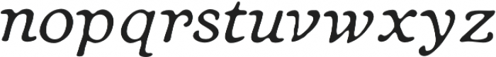 Heirloom Artcraft Thin Italic otf (100) Font LOWERCASE