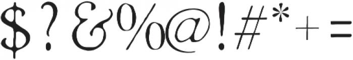 Heirloom Artcraft Thin otf (100) Font OTHER CHARS