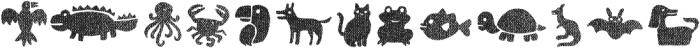 Helenita Dos Animals Texture otf (400) Font UPPERCASE