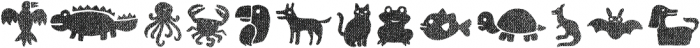 Helenita Dos Animals Texture otf (400) Font LOWERCASE