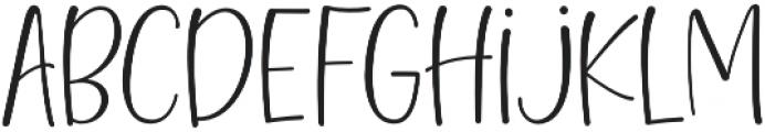 Hello Blushberry Sans Regular Regular otf (400) Font LOWERCASE