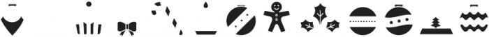 Hello Christmas Icons Fill otf (400) Font UPPERCASE