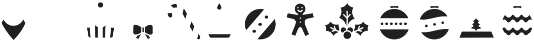 Hello Christmas Icons Fill otf (400) Font LOWERCASE