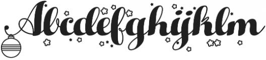 Hello Christmas otf (400) Font UPPERCASE