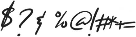 Hello Doe Script Regular otf (400) Font OTHER CHARS
