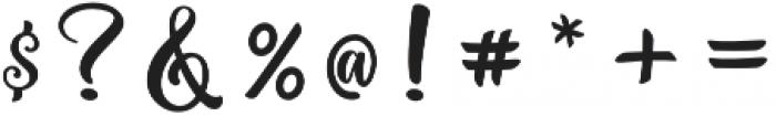 Hello Najwa Regular otf (400) Font OTHER CHARS