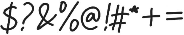 Hello Stranger otf (400) Font OTHER CHARS