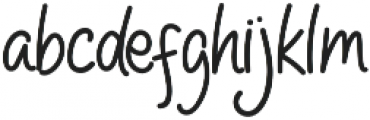 HelloPeople otf (400) Font LOWERCASE