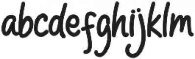 HelloPeople otf (700) Font LOWERCASE