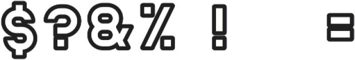 Helton Outline Bold otf (700) Font OTHER CHARS