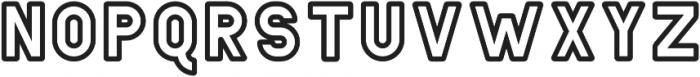 Helton Outline Bold otf (700) Font LOWERCASE