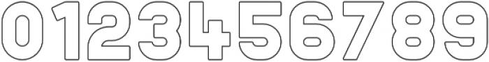 Helton Outline otf (400) Font OTHER CHARS