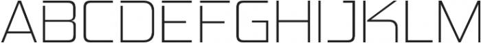 Hemi Head ExtraLight otf (200) Font UPPERCASE