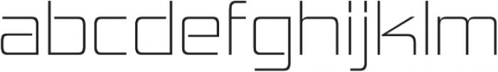 Hemi Head ExtraLight otf (200) Font LOWERCASE