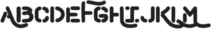 Hemingwar Stencil otf (400) Font UPPERCASE