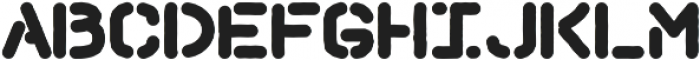 Hemingwar Stencil otf (400) Font LOWERCASE