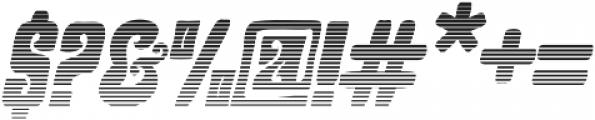 Hendrix Groove Gradient Italic otf (400) Font OTHER CHARS